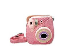 Camping Bags : Backpack and accessories :[Fujifilm Instax Mini 8 Case] - ZTCOO Cute PU Leather Instax Mini 8 Camera Case Bag With Camera Shoulder Strap and Pocket-Pink ** See this awesome image