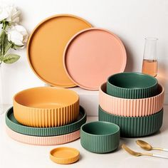 Stelle Dinnerware and Accent Plates Unique Colors, Vivid Colors, Kitchen Necessities, Country Living Magazine, Ceramic Materials, Buy Kitchen, Bowl, Paint Finishes, Light Decorations