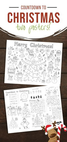 Countdown to Christmas Posters | Reading to Discover Preschool Christmas Activities, Toddler Preschool, Toddler Activities, Preschool Activities, Christmas Countdown, Christmas Fun, Christmas Posters, Engineer Prints, Noel