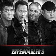 Sylvester Stallone, Arnold Schwarzenegger, Jason Statham, and Jet Li are back. You don't want to mess with them this time around. #EX3