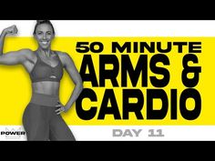 50 Minute Arms and Cardio Workout | POWER Program - Day 11 - YouTube Full Body Hiit Workout, Dumbbell Workout, Fat Burning Workout, Tabata, Cardio, Bridge Workout, Low Impact Workout, Fun Workouts, Morning Workouts