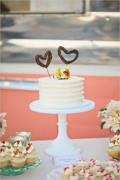 Legos used as cake topper