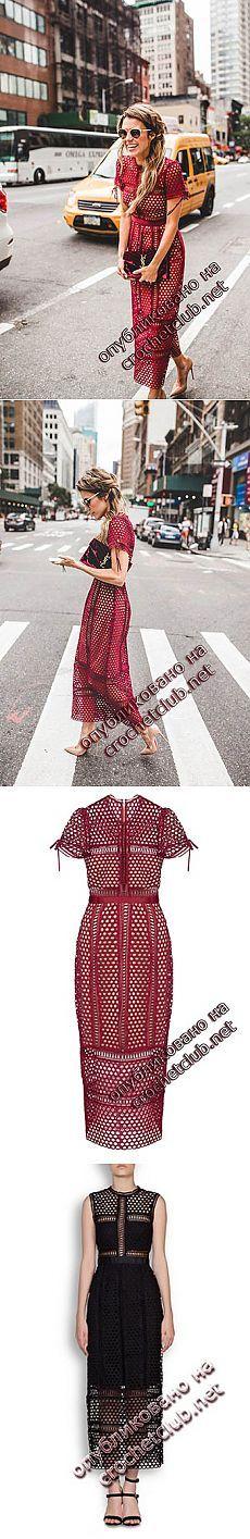 Платье-миди Han Chong - Вязание Крючком. Блог Настика