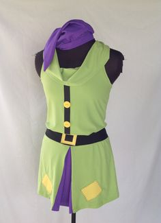 Dopey inspired running outfit racerback style by iGlowRunning Disney Marathon, Running Costumes, Purple Skirt, Run Disney, Cowl Neck Top, Compression Shorts, Hat Sizes, Green And Purple, Rompers