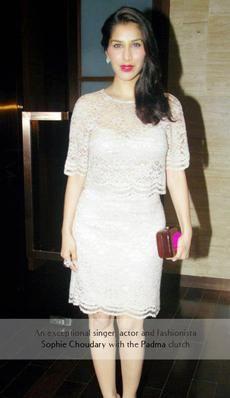 Sophie Choudhar- India actor and and singer carries the Rachana Reddy 'Padma' bag   #sophiechoudary #rachanareddy #wood #woodenclutch #clutch #fashion #accessory #madeinindia  #padma #lotus #india #bag #bollywood #celeb   Shop here: www.rachanareddy.com