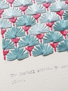 Izziyana fantail stitch via the red thread