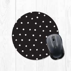 Polka dot mousepad -- you can choose your own colors!