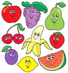 Cartoon Fruits Collection 1 Royalty Free Stock Image - Image: 7872396