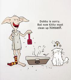 Dobby l'Elfe de maison et Mrou / Sktech of Dobby the house elf from Harry Potter for @Sketch_Dailies #DobbyTheHouseElf