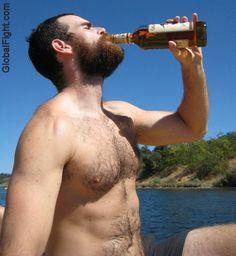 a red beard drunk uk man