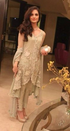 c072b340d bell sleeves Pakistani suit.. with ankel length bottom.. new trend ...