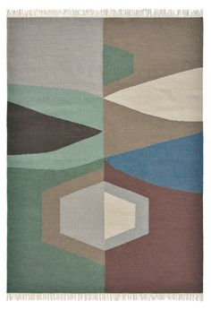 Koberec Brink and Campman Kashba z čisté vlny, TIPI 48905 Polypropylene Rugs, Contemporary Abstract Art, Brown Rug, Red Rugs, Modern Rugs, Woven Rug, Traditional Design, Geometric Shapes, Vintage Rugs