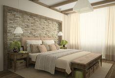 detalles y mas opciones dormitorio moderno papel pared imitando ladrillo ideas