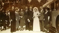 40's French Wedding Photograph  Bride & Groom with by ChicEtChoc, $3.50