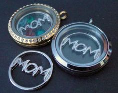 FLOATING CHARMS - MOM - fits large Origami Owl and Charmedlets lockets