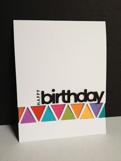 I'm in Haven: Leftover Triangles Birthday Card. PI 4 triangle die