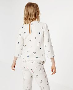 PRINTED TOP from Zara