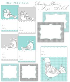 Free Printable: Winter Bird Gift Tags + Labels - Home - Creature Comforts - daily inspiration, style, diy projects + freebies
