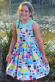 Ainslee Fox Disco Party Dress - Girls size 1-2 years Dress PDF Sewing Pattern