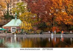NEW YORK CITY, USA - NOVEMBER 14: A people sailing a model boats at the Conservatory Water in New York's Central Park at November 14, 2011.