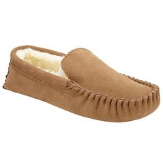 John Lewis Moccasin Faux Fur Lined Slippers - £30