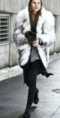 Winter skinny fur coat Maja Why