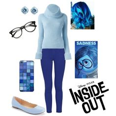 Disney Pixar Inside Out - Sadness by briony-jae on Polyvore featuring Ermanno Scervino, French Connection and LC Lauren Conrad