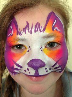 Kitty Face Paint Design