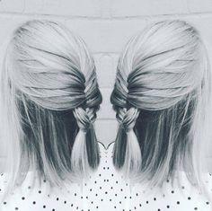 Casual Fishtail Braid Hairstyle for Medium Straight Hair