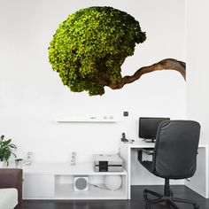 Bowing Tree Wall Decal