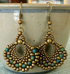 Peyote Fan Earrings