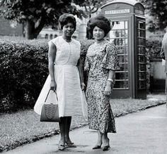 Immigration from Africa and the Caribbean to Britain in the 1950s, added new flair to the British fashion scene.  With ladies staying true to the styles of 'back home,' short-sleeved dresses and light materials were the order of the day. But as many of the new arrivals were from countries that were under British rule, they already showcased an element of European style.