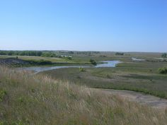 The North Loup River alongside Highway 91 east of Brewster.