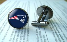 NFL New England Patriots cufflinks  Football by Cufflinkworld1, $11.00