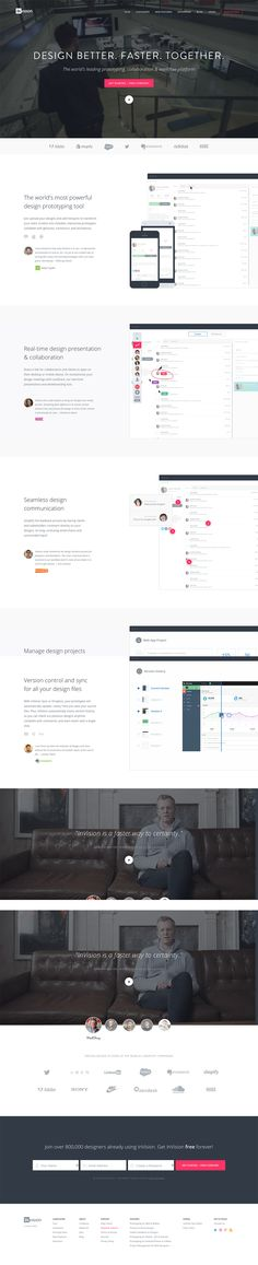 invision app frontpage - prototyping and collaboration for design