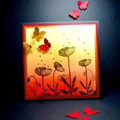 Eileen's Crafty Zone: Lavinia Poppy Stamps, A Brayer and A Shapeabilities Butterfly