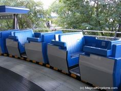 10 of the Best...Places to Relax at Disney World.... this is the People Transit. It takes you inside SPACE Mountain. Hardly ever a wait... especially during the Fall and Winter.