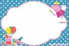 Peppa Pig Invitations, Printable Invitations, Party Printables, Birthday Invitations, Peppa Pig Princesa, Cumple Peppa Pig, Pig Birthday, 3rd Birthday Parties, Princess Peppa Pig Party