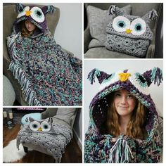 Owl blanket from Ravelry