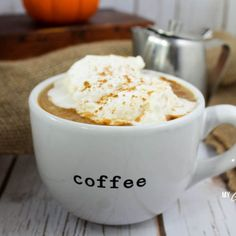 A delicious pumpkin spice latte filled to the brim with health-promoting benefits! A good dose of MCT oil and coconut oil, plus all the flavors of fall! This recipe Trim Healthy Recipes, Coconut Recipes, Pumpkin Recipes, Fall Recipes, Low Carb Recipes, Ketogenic Recipes, Healthy Alternatives, Ketogenic Diet, Diet Recipes