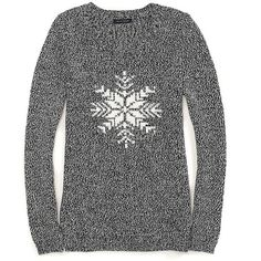 Tommy Hilfiger Snowflake Sweater ($55) ❤ liked on Polyvore featuring tops, sweaters, shirts, jumper, long sleeves, cotton shirts, snowflake jumper, snowflake sweater, tommy hilfiger and long sleeve tops