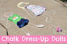 You can also use chalk and some of your kid's old clothes for this bit of summer fun.