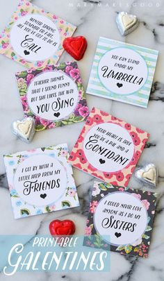 Printable Galentine's cards for Your Sisters, Besties, and Lady-Loves on Valentine's Day