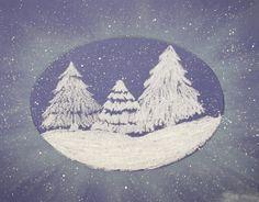 Snowy Forest Grade 4 « K-8 Art