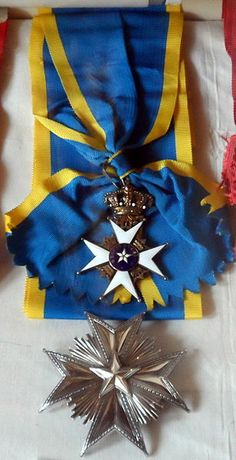 The Order of the Polar Star. Star and ribbon of a Commander Grand Cross