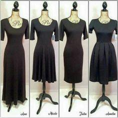All four LuLaRoe Dress Body Styles!
