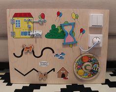 Beschäftigt Activity Board, Sensor-Brett, Brett, Montessori pädagogisches Spielzeug, Feinmotorik Board für Kleinkinder und Babys