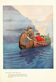 Newell Convers Wyeth -- Illustrations for James Fenimore Cooper's The last of the Mohicans, 1919.