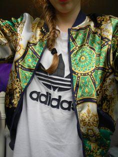 meet 31bff 36fd7 Adidas. Modern. Fresh.  13. Jacket. Pattern. Green  amp