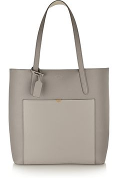 Smythson|North/ South textured-leather tote|NET-A-PORTER.COM